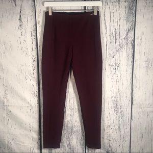 Ivanka trump maroon dress slacks pants size small